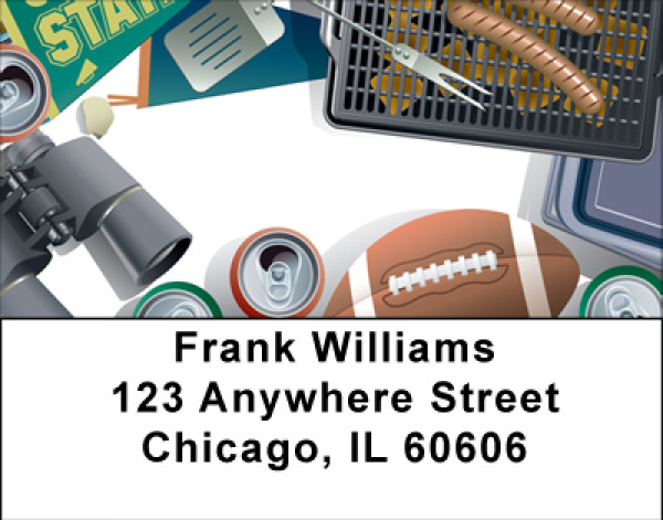 The Sport Of Tailgating Address Labels | LBBBH-10