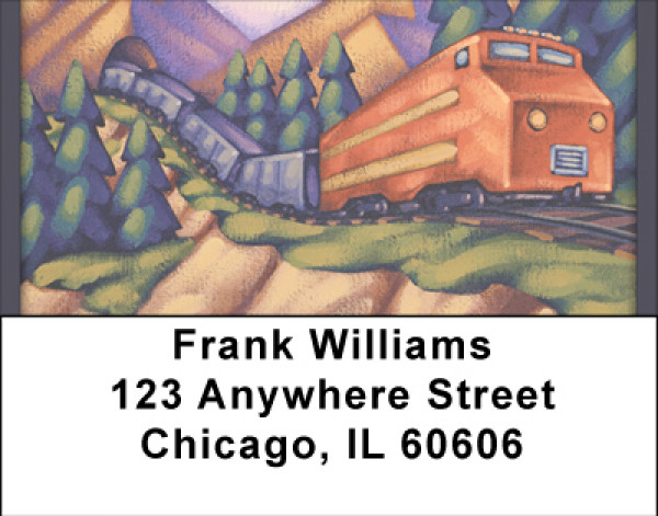 Fun On The Rails Address Labels | LBBBH-69