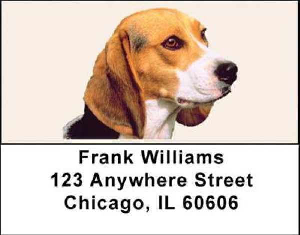 Beagles Address Labels | LBDOG-12