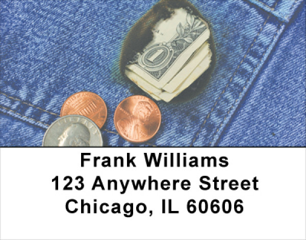 Burning A Hole In My Pocket Address Labels | LBFUN-47