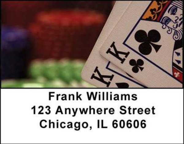 Poker Address Labels | LBGME-01