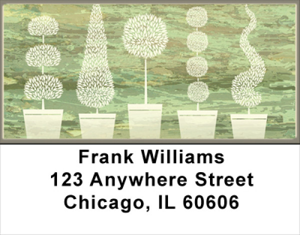 Topiary Tree Abstracts Address Labels | LBNAT-66