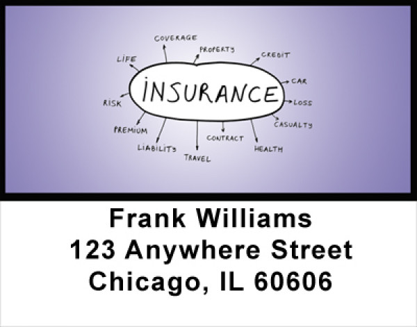 Insurance Address Labels | LBPRO-33