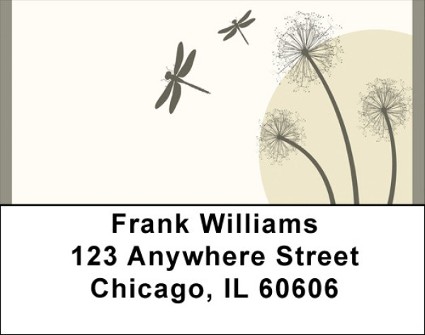 Dragonfly Sunrise Address Labels | LBQBC-10