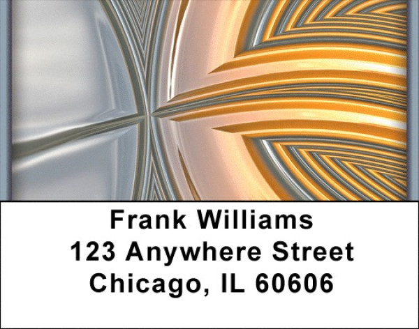 Graphic Metal Address Labels | LBZABS-59