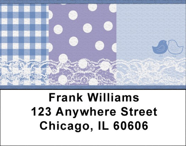 Bird Table Cloth Address Labels | LBZGEP-03