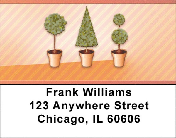 Topiary Trees Address Labels | LBZNAT-67
