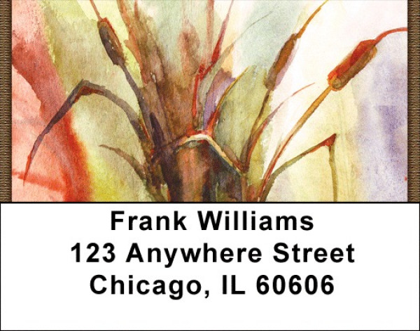 Cattail Watercolors Address Labels | LBZNAT-68