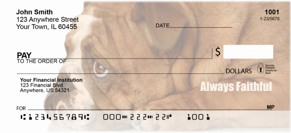 Bulldogs With Marine Attitude Personal Checks | MIL-32