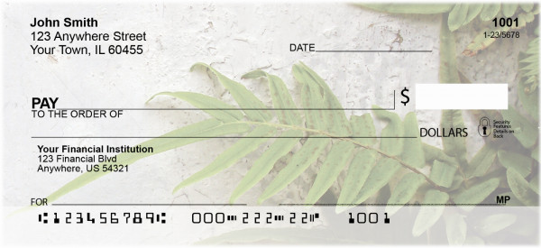 Fern On Walls Personal Checks | NAT-46