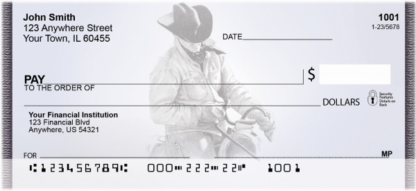 Country Living In Pencil Personal Checks | QBA-05