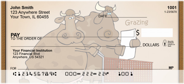 A Cow's Life Personal Checks | QBB-04