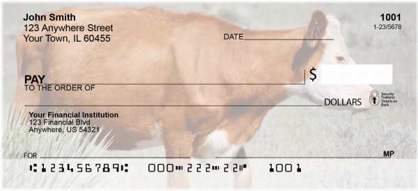 Cattle On Western Prairie Personal Checks | QBB-09