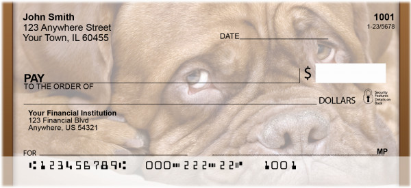 French Mastiff Personal Checks | QBB-55