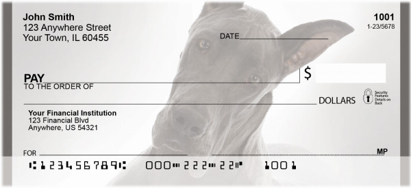 Great Dane Personal Checks | QBB-60