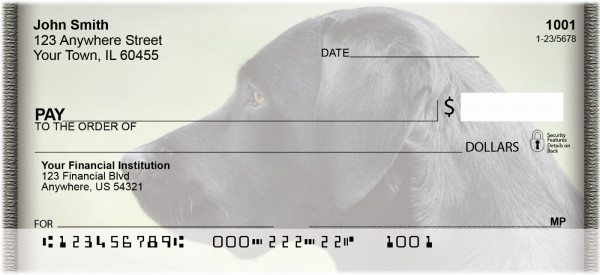 Black Labs Personal Checks | QBB-66