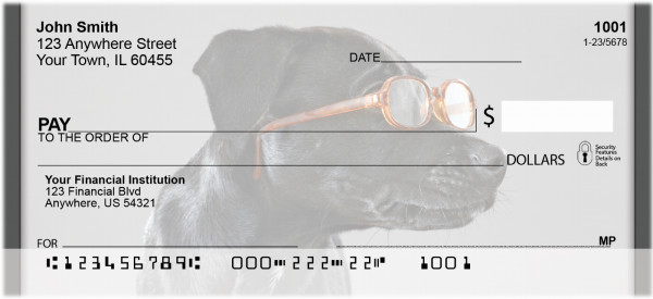 Smart Labrador Personal Checks | QBB-71