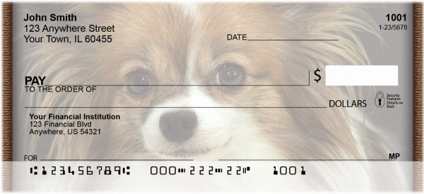 Papillon Portrait Personal Checks | QBB-78