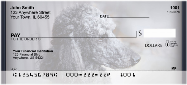 Black And Grey Poodle Personal Checks | QBB-85