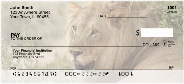 Lions King Of The Jungle Personal Checks | QBC-98