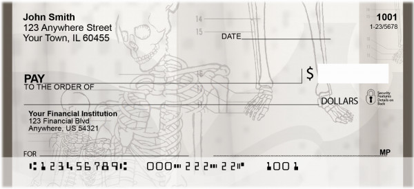 Human Skeletons Personal Checks | QBD-89