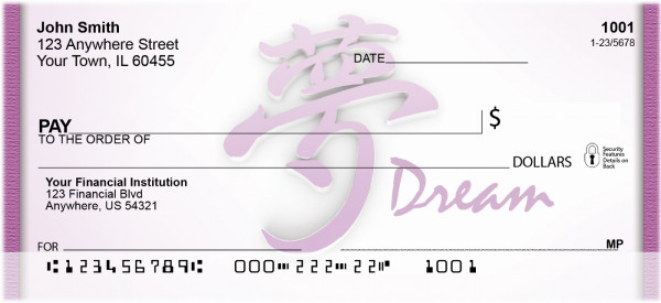Asian Dream Personal Checks | QBI-25