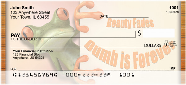 Dumb Is Forever Personal Checks | QBI-43