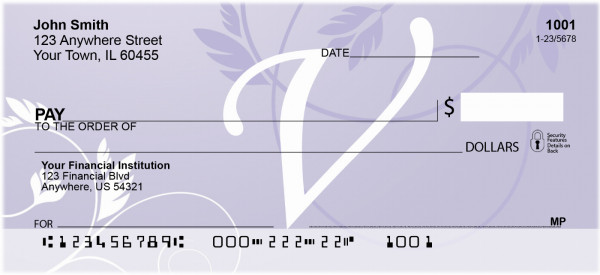 Purple Prosperity -V Personal Checks | QBL-03