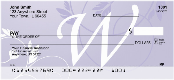 Purple Prosperity -W Personal Checks | QBL-04