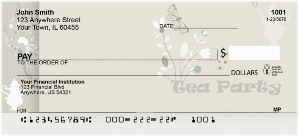 Tea Party Personal Checks | QBM-32