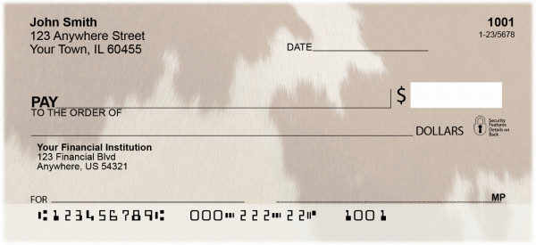Cowhide Prints Personal Checks | QBM-58