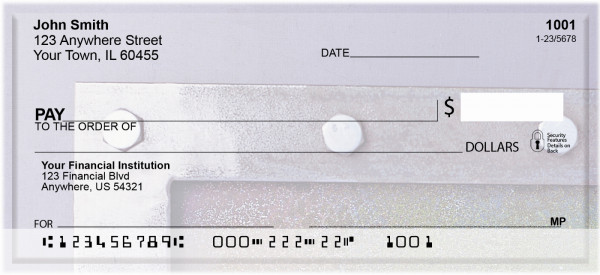 Abstract In Metals Personal Checks | QBN-59