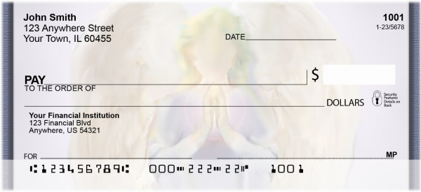 Faceless Angels Personal Checks | QBO-72