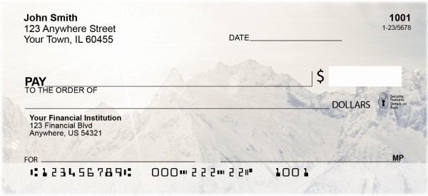 Snow Covered Mountain Tops Personal Checks | QBP-52