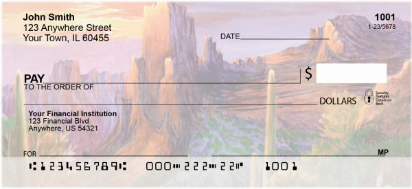 Landscape Paintings Personal Checks | QBP-66