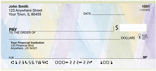 Abstraction In Watercolor Personal Checks | QBR-02