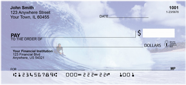 Surfs Up Personal Checks | SCE-41