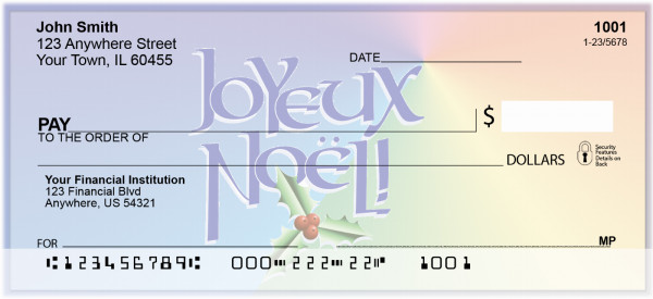 French Holiday Greetings Personal Checks | XMS-42