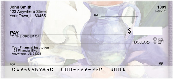 Tuscan Inspired Watercolor Personal Checks | ZABS-43