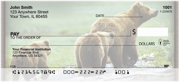 Bears in the Wild Personal Checks | ZANI-10