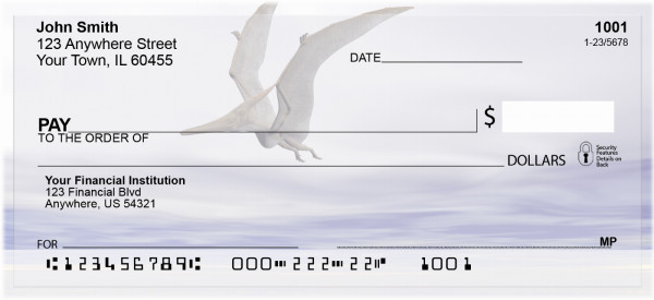 Flying Dinosaurs Personal Checks | ZANK-63