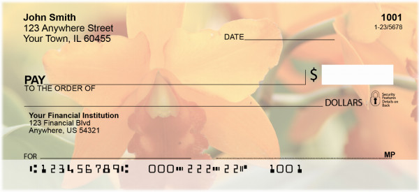 Tropical Orchids Personal Checks | ZFLO-34