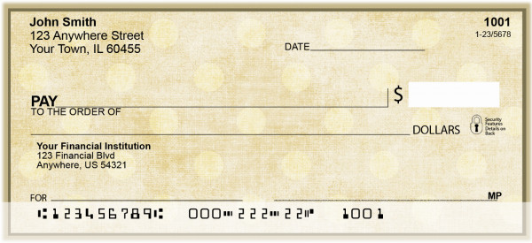 Vintage Dots Personal Checks | ZGEP-01