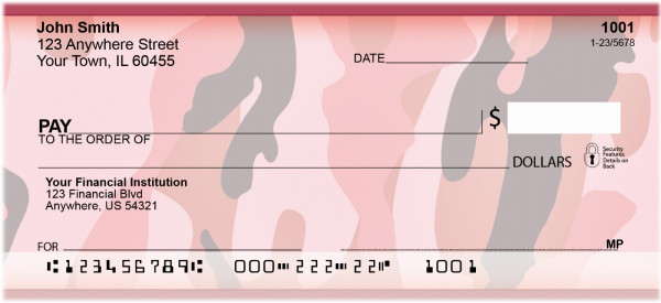 Camouflage - Pinks And Corals Personal Checks | ZMIL-27