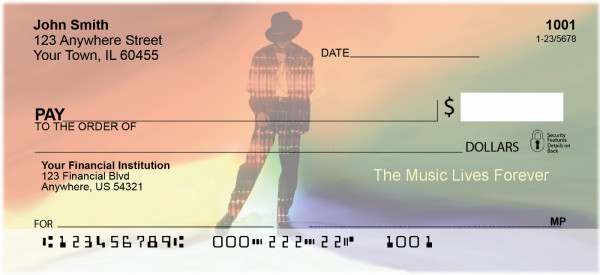 The Music Lives Forever Personal Checks | ZMUS-07