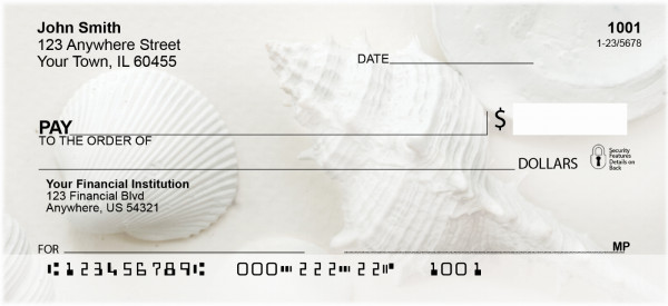 Perfectly White Shells Personal Checks | ZNAT-61