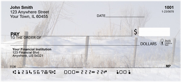Barbed Wire Fence Posts Personal Checks | ZSCE-35