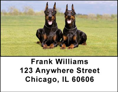 Dobermans Address Labels - 3