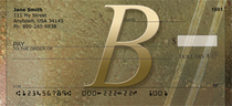 Stoned Gold Monogram B Checks