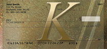 Stoned Gold Monogram K Checks